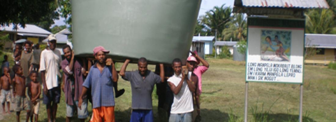 Serbatoi per acqua potabile e medicine - Papua Nuova Guinea 5
